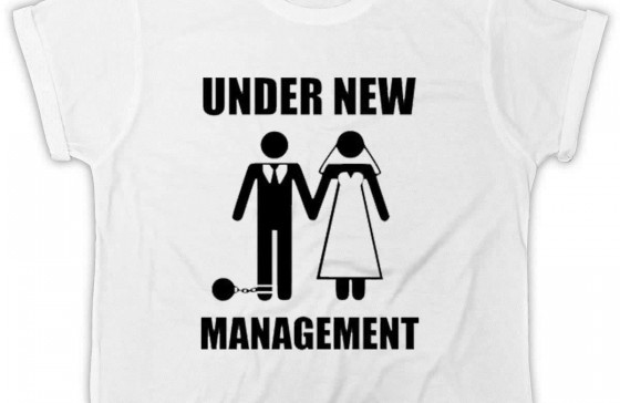 Under New Management Just Married T shirt stag clothing
