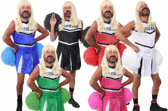 <p>Hilarious cheer leaders outfit complete with pom pom's, get you team all dressed up together and even get a dance routine going to cheer on your stag.</p>