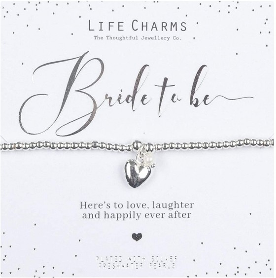 <p>This is the ideal way to say it in style for your beautiful hen and soon to be bride, The bracelet it designed on a chain of silver plated beads and includes a heart pendant and fresh water pearls, it is presented with the wording&nbsp;Heres To Love, Laughter and Happily Ever After, and inside a luxury presentation box and gift bag.</p>