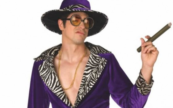 <p>Strut like Huggy Bear with this hilarious Pimp Daddy costume in different colours, including small to extra large sizes, get the ultimate stag party costume for Albufeira.</p>