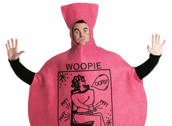 <p>If your stag deserves to be humiliated then lets be honest dressing him up as a fart cushion has got to be up there with the best.</p>